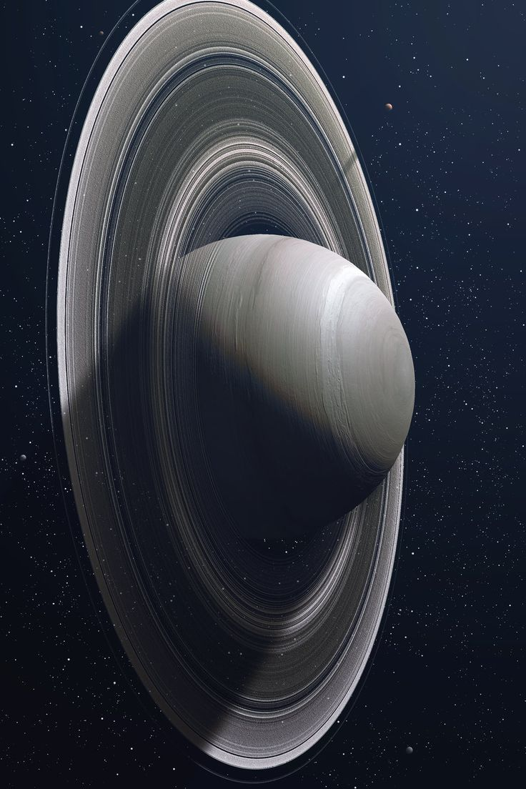 Saturn. I love how you can see thru the rings, and I love the different-- vertical-- orientation. Finally, I love how the Cassini probe continues to beam us such amazing photographs of the Saturn system!!!