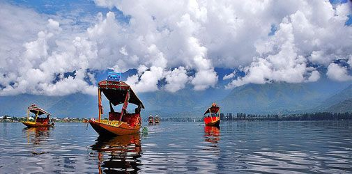 #Srinagar y el maravilloso lago #Dal, #India    #travel #tourism #vacation #Asia #leisure #tourism