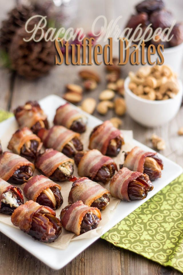 Bacon Wrapped Stuffed Dates   by Sonia! The Healthy Foodie