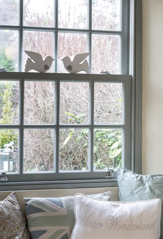 Love the painted window frame