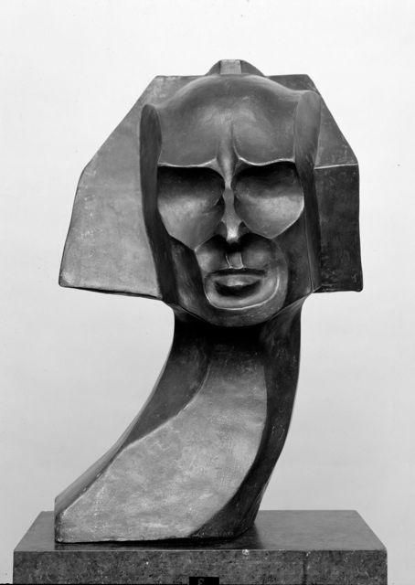 black - head - man - William Wauer - Portrait Herwarth Walden, 1917 - bronze - Staatliche Museen zu Berlin, Nationalgalerie