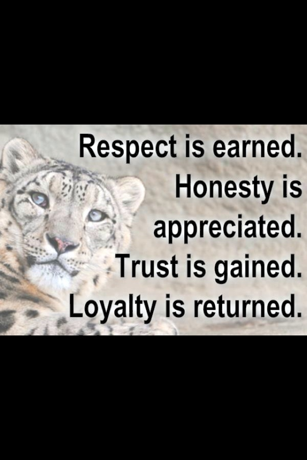 Respect Is Earned Not Given Quotes, Quotations & Sayings 2018