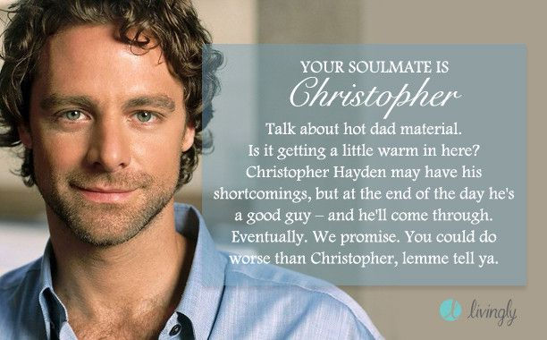 I took the Livingly 'Gilmore Girls Soulmate' quiz and got Christopher. Who's yours? - Quiz