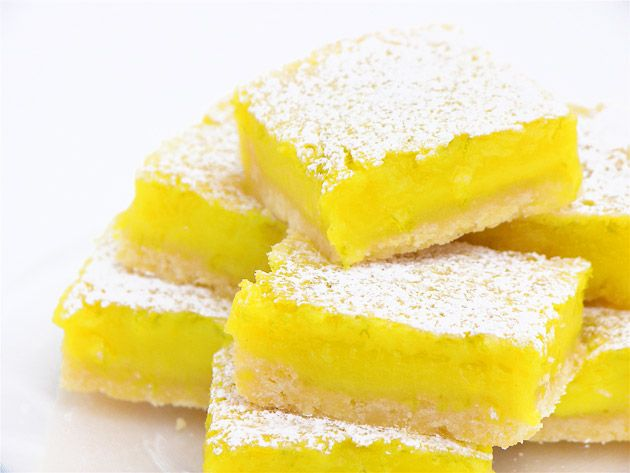 Lime bars... These didn't turn out as planned... The recipe isn't as ...