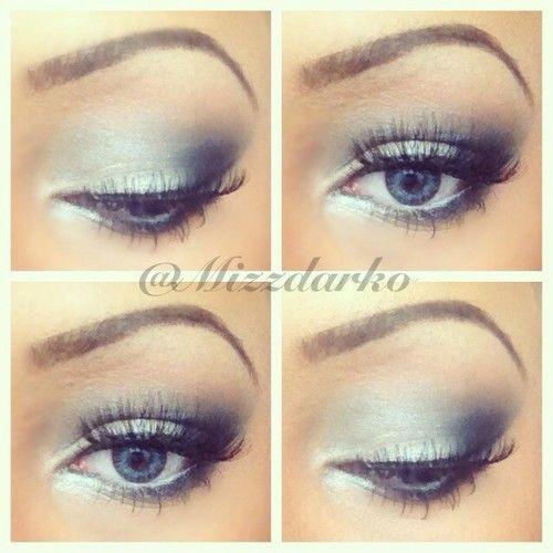 Blue Smokey eye ❤ MAKEUP BY KIEOSHA DARKO #mizzdarko