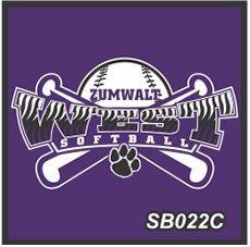 "View the image of custom softball logo ""Zumvalt"" by STL Shirts Co. #softballteamlogo #softballteamlogos #softballshirts #softballtshirts"