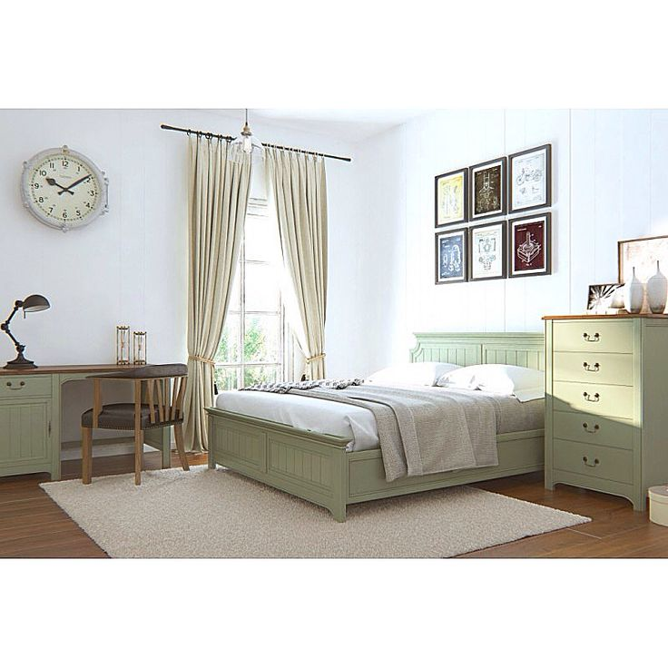 """Вот такой милый комплект #спальни """"Olivia"""" можно теперь заказать в нашем онлайн маркете со скидкой 15%. Корпусная мебель выполнена из массива сосны, а стул из дуба, обтянут натуральной кожей."""