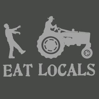 Brains are on the menuLocal Food, Graphics Tees, Shops Bags, Eating Local, Farmers Marketing, Bumper Stickers, T Shirts, Happy Halloween, Zombies Food
