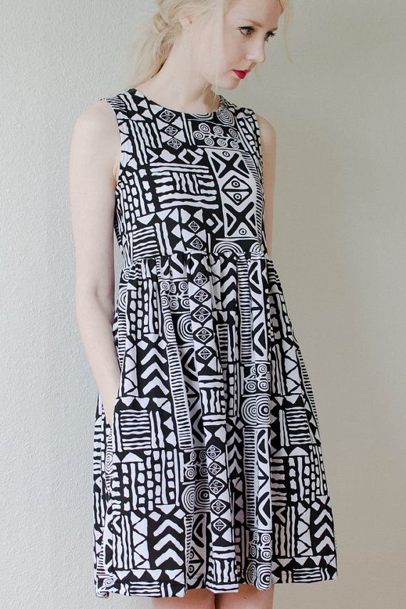 tribal print jersey dress by peoplewebs