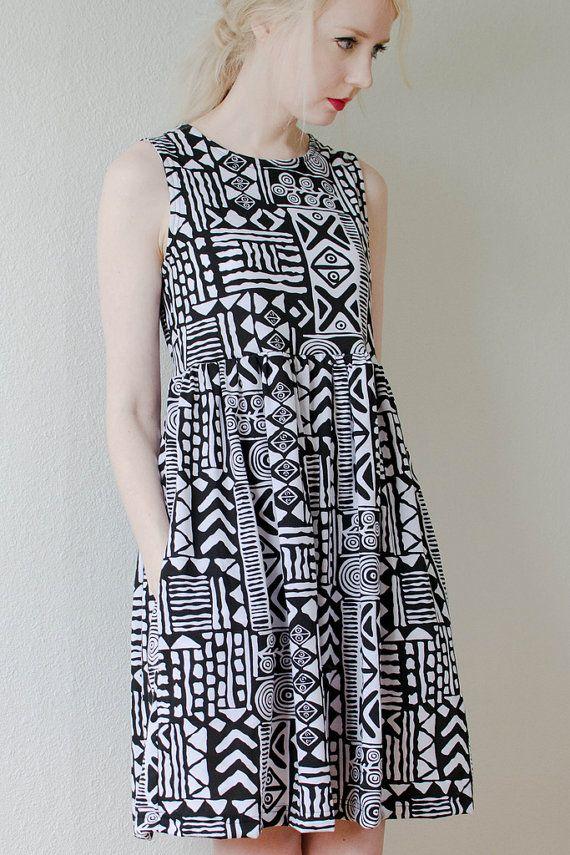 tribal print jersey dress by peoplewebs