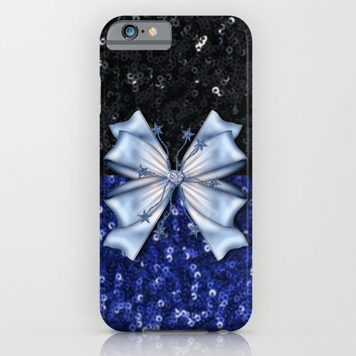#Society6 SOLD! Brilliant Black and Blue  iPhone & iPod Case by Elena Indolfi