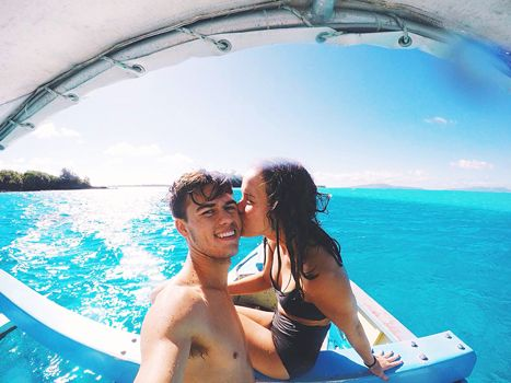 Duck Dynasty's John Luke Robertson, Mary Kate Go on Honeymoon: Photos - Us Weekly