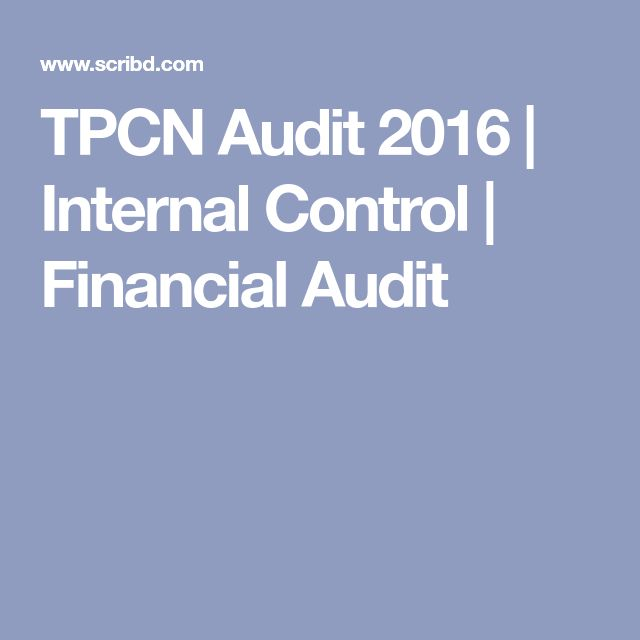 TPCN Audit 2016 | Internal Control | Financial Audit