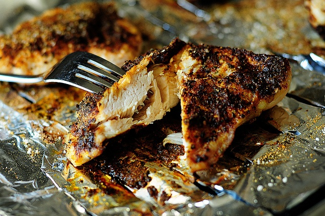 lazy chicken...today was our lazy day so I figured this would be perfect. REALLY easy and chicken came out tasting good and moist. I used my own seasoning and frozen chicken breasts. Girls all loved it too.