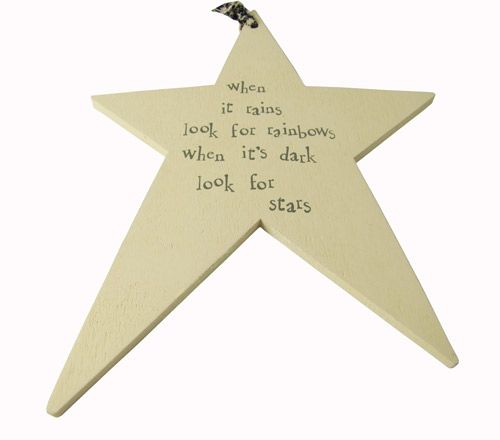 """""""When it rains look for rainbows, when it's dark look for stars."""" #quote #saying on a lovely star"""