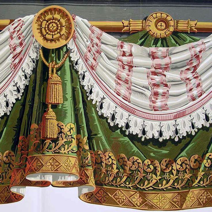 bordure papier peint zuber vers 1800 manufacture de rixheim bordure frises papier peint. Black Bedroom Furniture Sets. Home Design Ideas