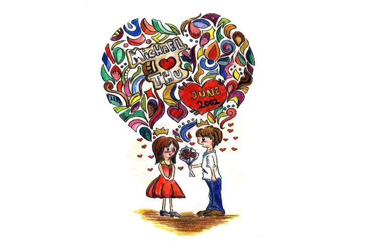 juliannaputri: design Valentine gift card for your beloved one for $5, on fiverr.com