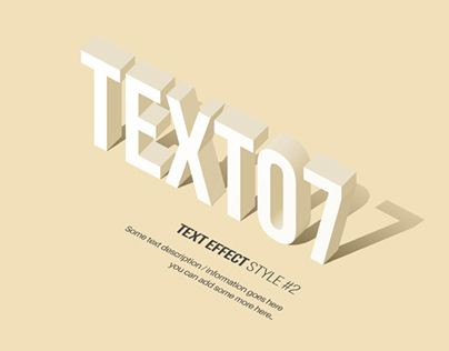 A collection of 10 3d text effect styles and 4 of the you can download for free.