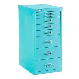 Bisley Aqua 8-Drawer Collection Cabinet