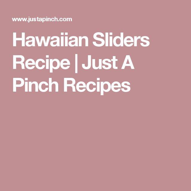 Hawaiian Sliders Recipe | Just A Pinch Recipes