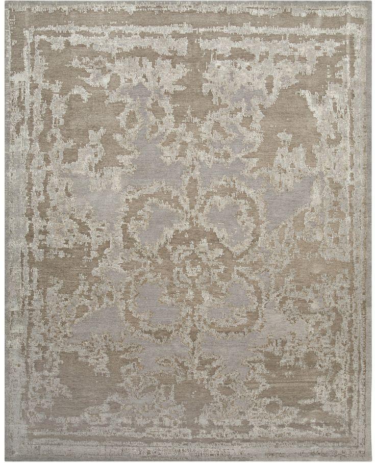 A Taupe And Blue Rug Carpet For Sale Through David E