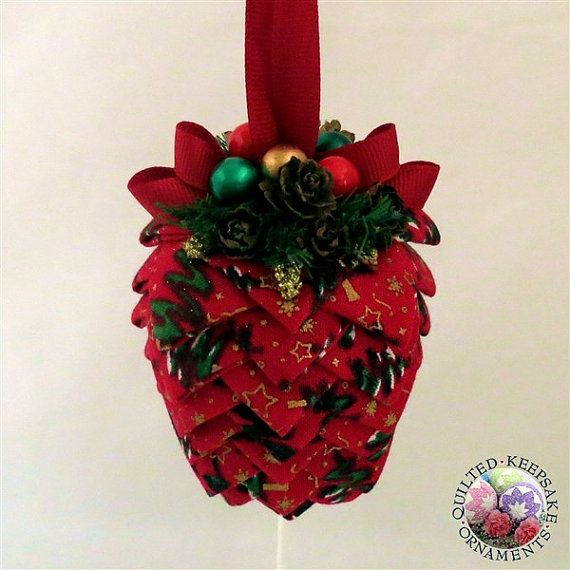 Christmas Tree Ornaments Quilted : Best images about quilted keepsake ornaments on