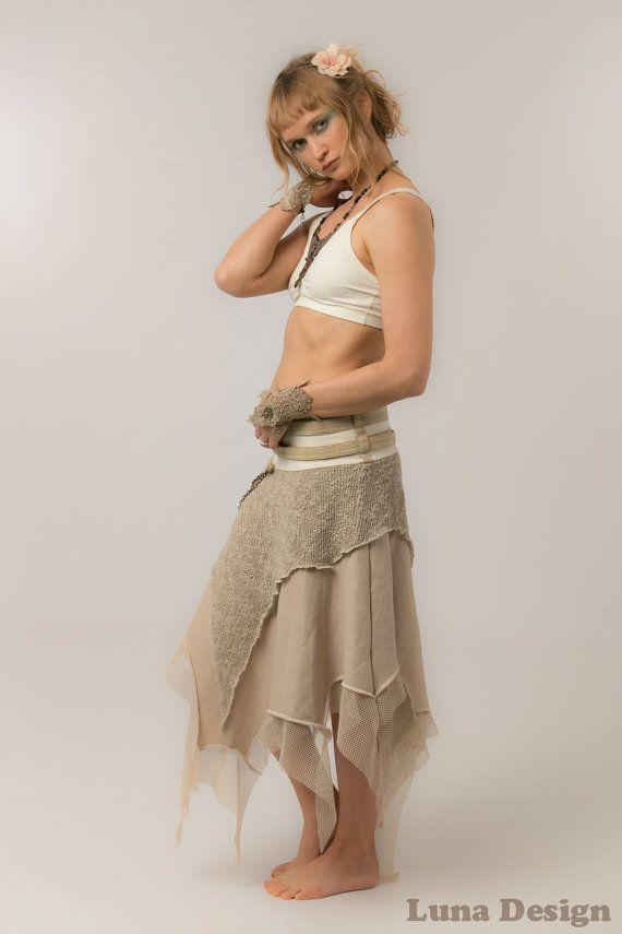 La falda  mujer elfo Guerrero falda  falda de invierno