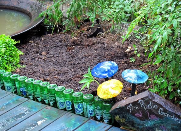 recycled garden edging ideas 7 best esterno images on pinterest