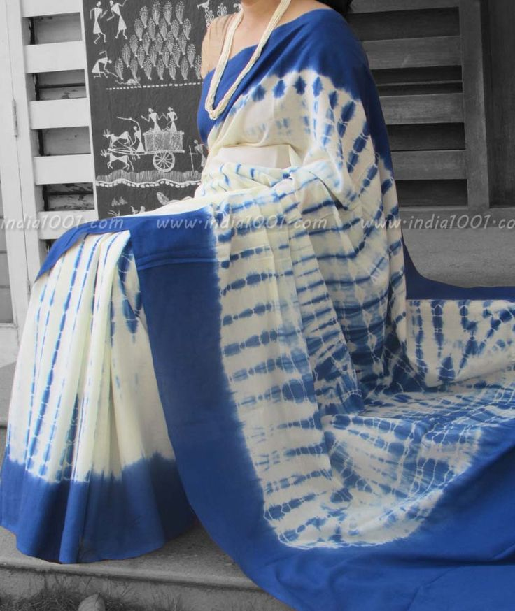 Elegant Mul Cotton Saree with Shibori work