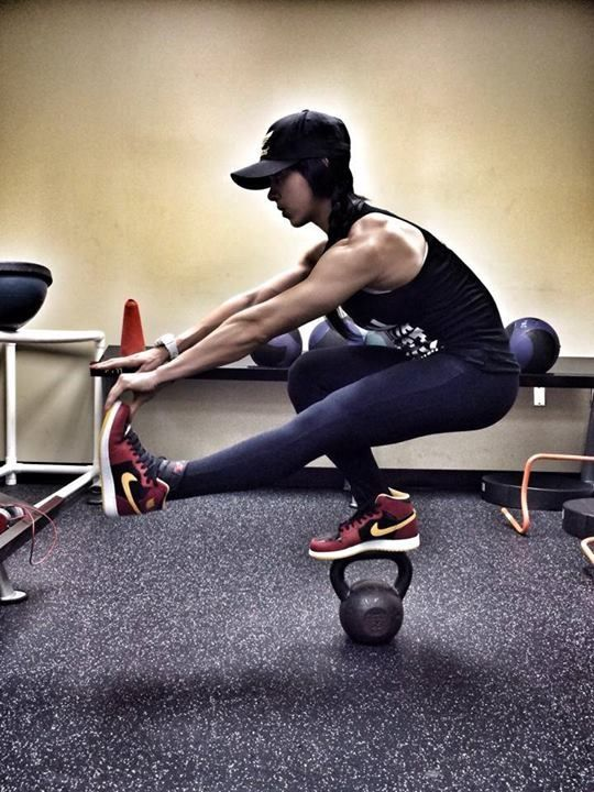 Bella Falconi. My fitness idol. I will be able to do that one day.