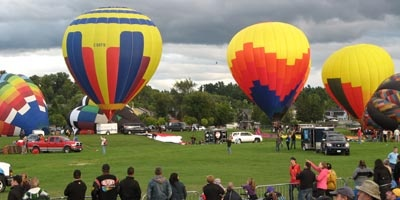 The hot air balloon festival in Gatineau, Quebec.
