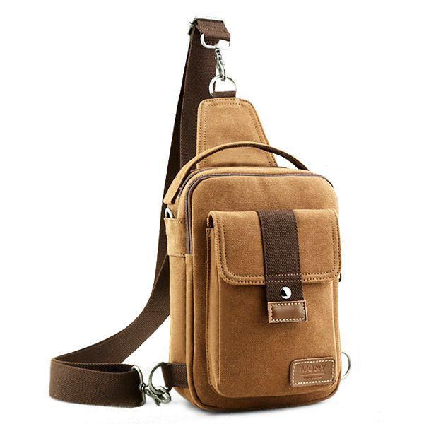 Casual Bag Messenger Bag Shoulder Bag Canvas Small Backpack Sports Bag For Men  #men #women  #bags #fashion