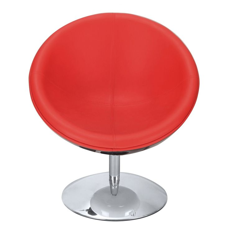 Adeco 360-Swivel Retro Color Series Egg-Shape Chair (White red), Green (ABS)
