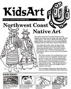 Elementary students explore arts of Alaska, Canada, Washington with hands-on totem poles, masks, traditional designs, tribal history...