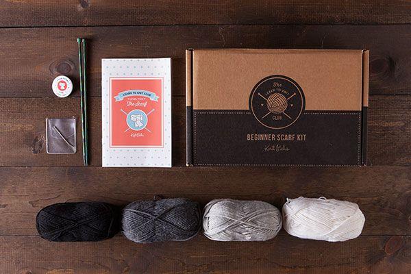 Learn to Knit Club, Level 2: Scarf - Neutral  *Afflink*