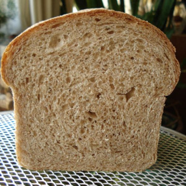 This is a whole-wheat version of basic white sandwich bread. It's a ...