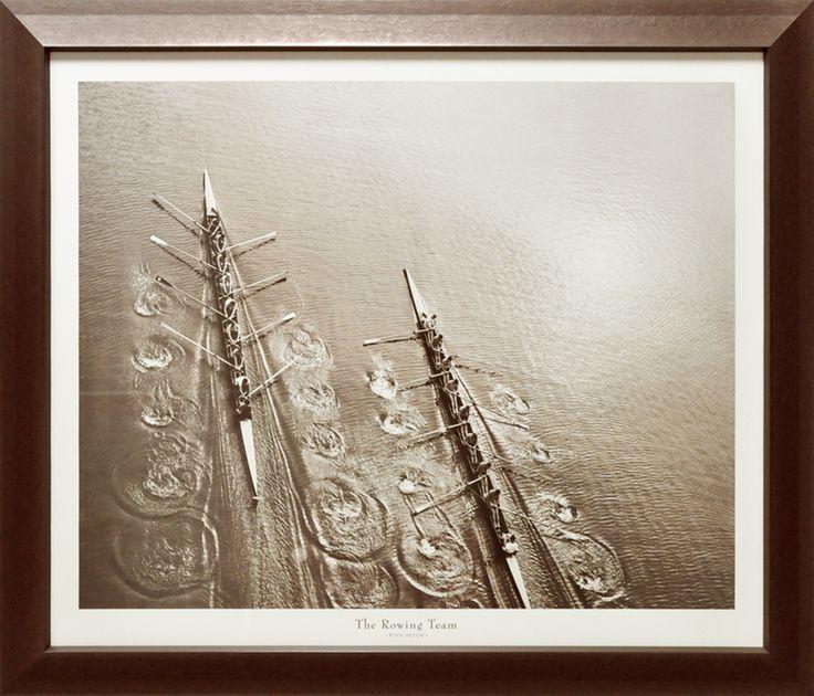 Cadre collection Foundry.L'équipe d'aviron de Philip Gendreau (affiche)