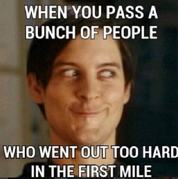 I run the slowest first mile and see this all the time....