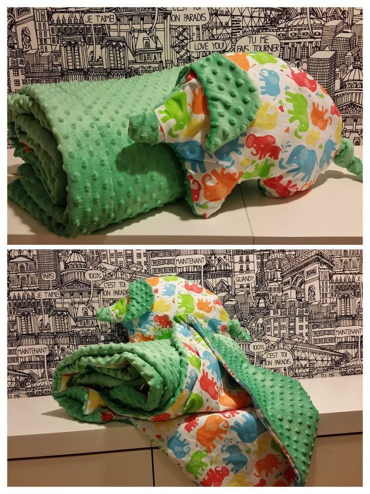 kocyk i poduszka świnka minky blanket & pillow pig