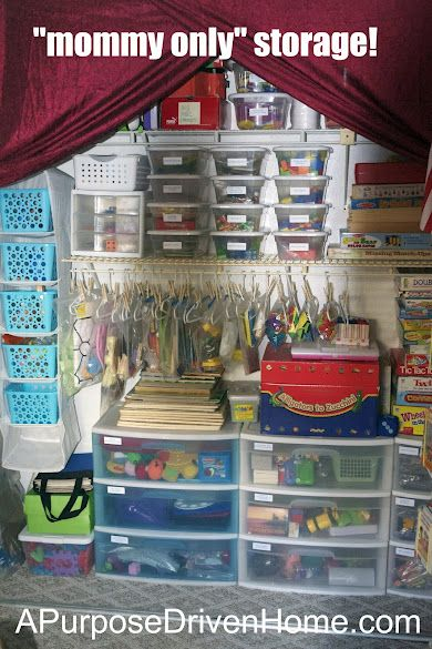 Homeschool and Playroom Organization {An Overview} | A Purpose Driven Home