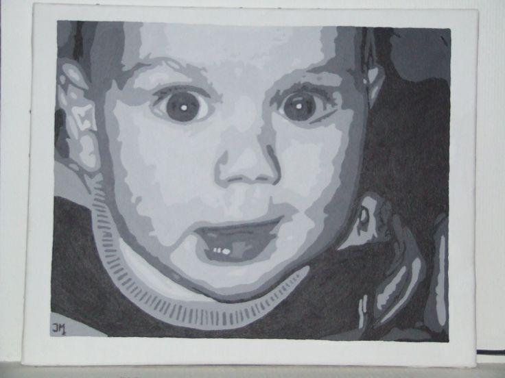 In opdracht: Schilderij van mijn neefje Yannick