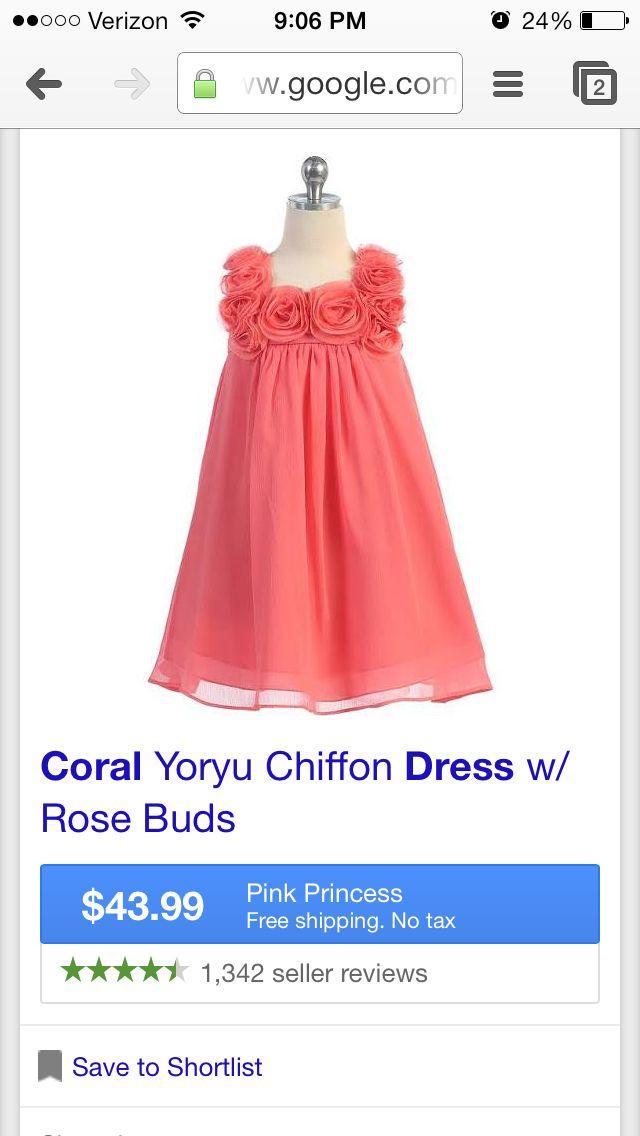 Coral flower girl dresses mightylinksfo
