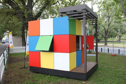 A super fun cubby house / playhouse by Latitude 37 Homes.