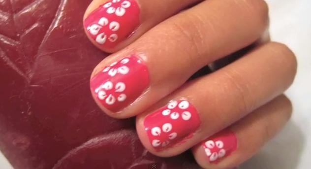 Hawaiian Flower Nails | Nails | Pinterest
