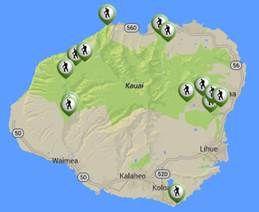 Kauai Hiking Map
