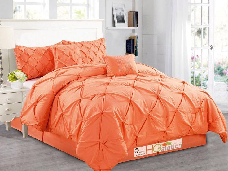 Comforter Set Orange Pumpkin Carrot Queen