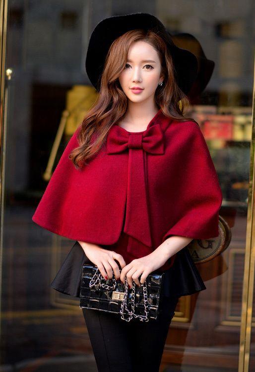 Morpheus Boutique  - Red Bow Ms Blouse Cloak Short Coat, $149.99 (http://www.morpheusboutique.com/new-arrivals/red-bow-ms-blouse-cloak-short-coat/)