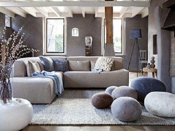 Rustige en natuurlijke uitstraling voor in de woonkamer