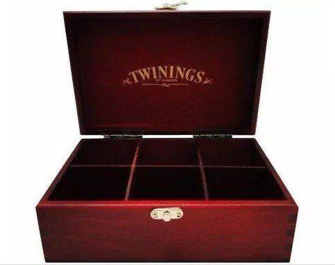 cha twinings caixa de madeira com 60 sachês a escolher