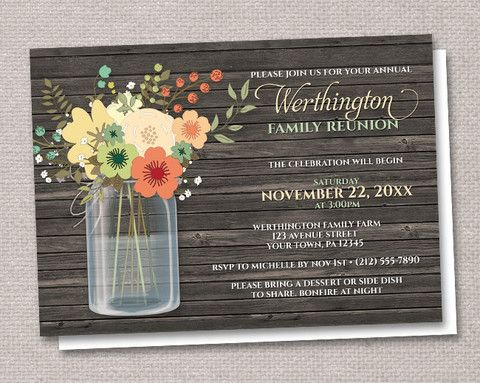 31 best Family Reunions images on Pinterest Family reunion - invitations for family reunion